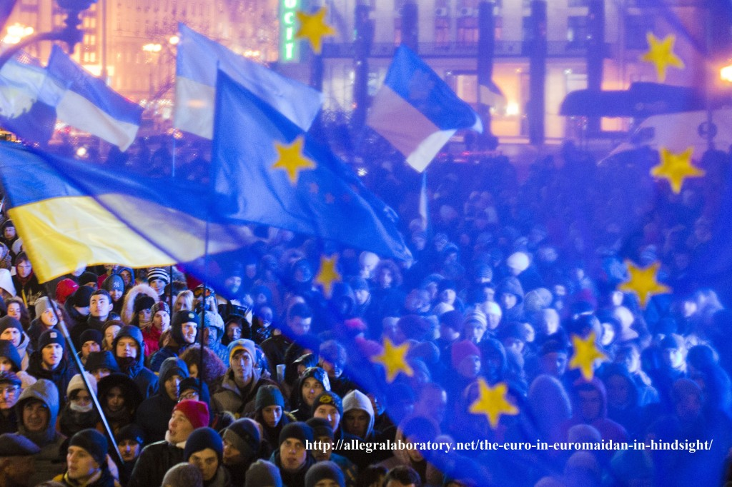 Photo: Euromaidan protesters. Illustration for announced course on the Euromaidan at University of Alberta